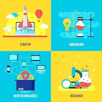 Composición plana de desarrollo empresarial