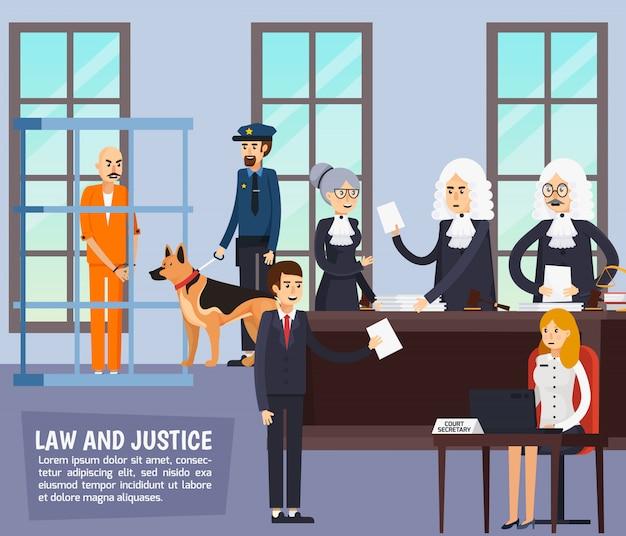 Composición plana ortogonal del tribunal