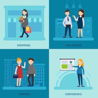 Composición de la plaza madre de negocios