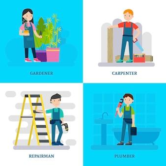 Composición de la plaza de trabajadores profesionales