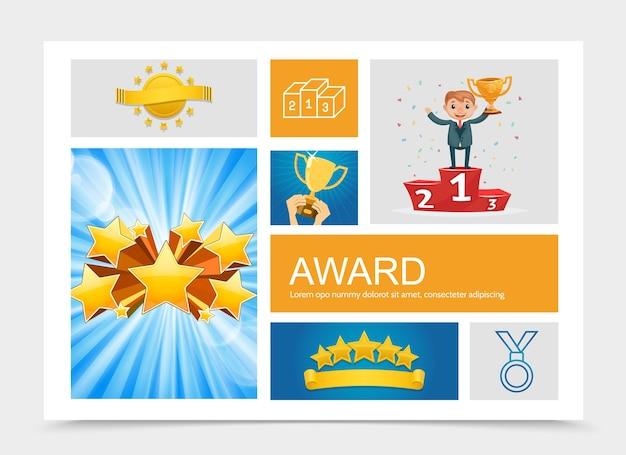Composición de premios planos