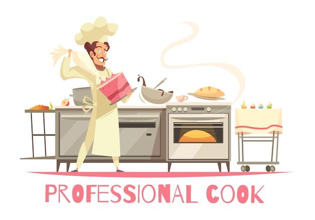 Composición profesional de cocinera