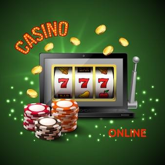 Composición realista de casino