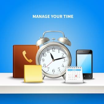Composición realista de gestión del tiempo
