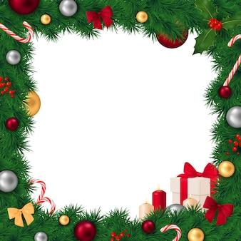 Composición realista del marco de navidad
