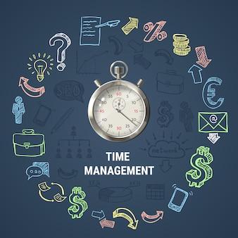 Composición redonda de gestión del tiempo