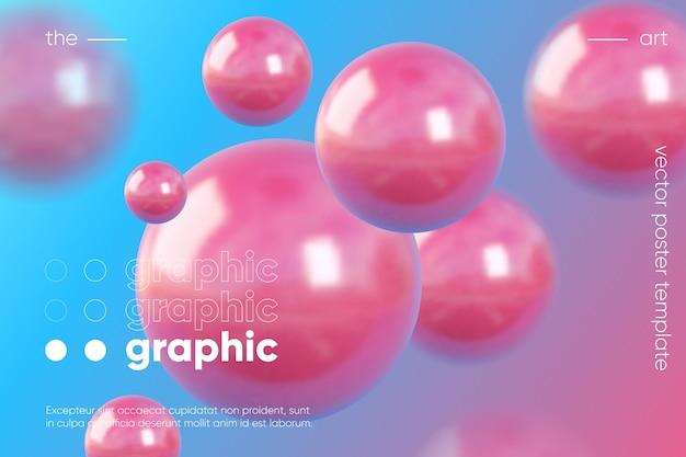 Composición de renderizado de bola 3d.