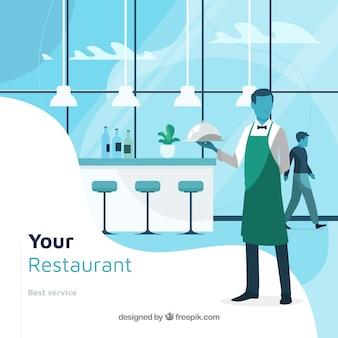 Composición de restaurante elegante