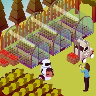 Composición de robots de operador de granja