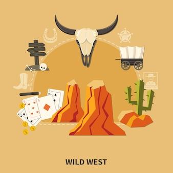 Composición del salvaje oeste