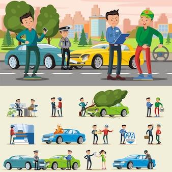 Composición del seguro de automóvil