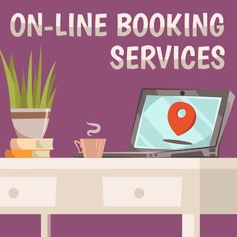 Composición de servicios de reserva en línea