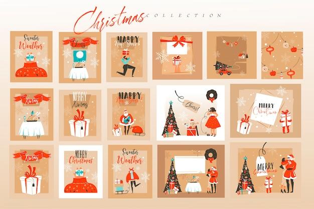 Composición de la tarjeta de navidad