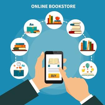 Composición de la tienda de libros en línea