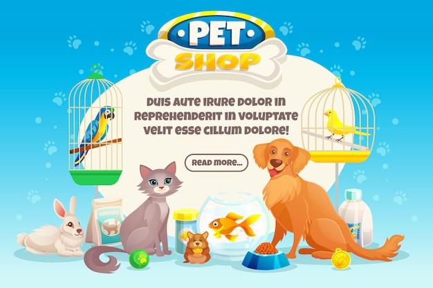 Composición de la tienda de mascotas