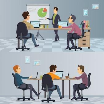 Composición de trabajo en equipo empresarial
