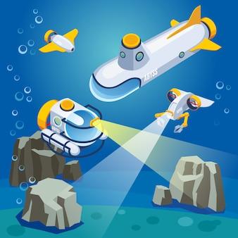 Composición de vehículos submarinos