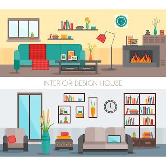 Composiciones interiores planas