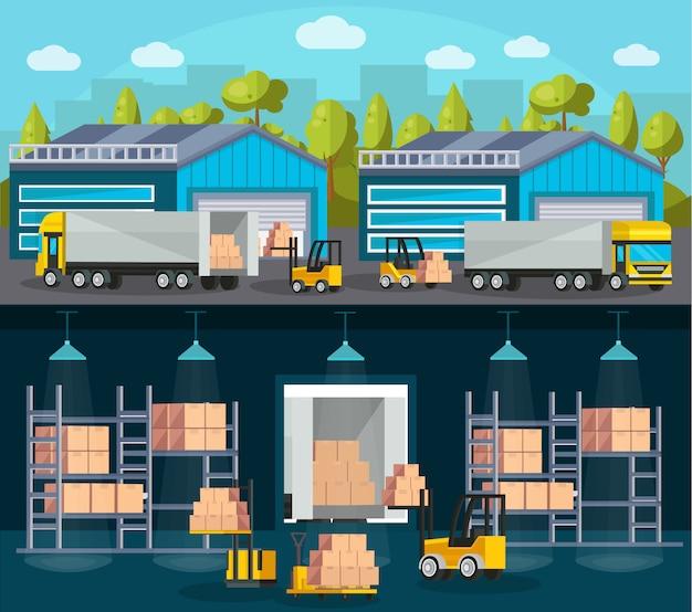 Composiciones de logística de almacén