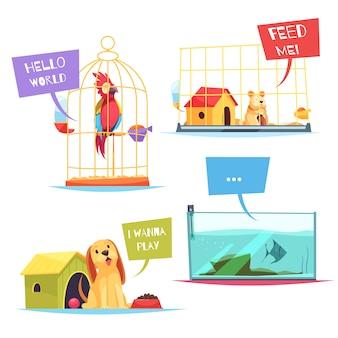 Composiciones de pet shop
