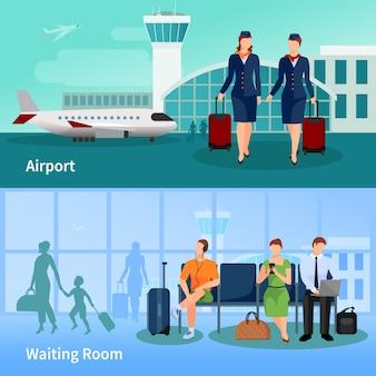 Composiciones planas de aeropuerto