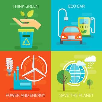 Composiciones planas de ecología