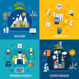 Composiciones planas de electricidad