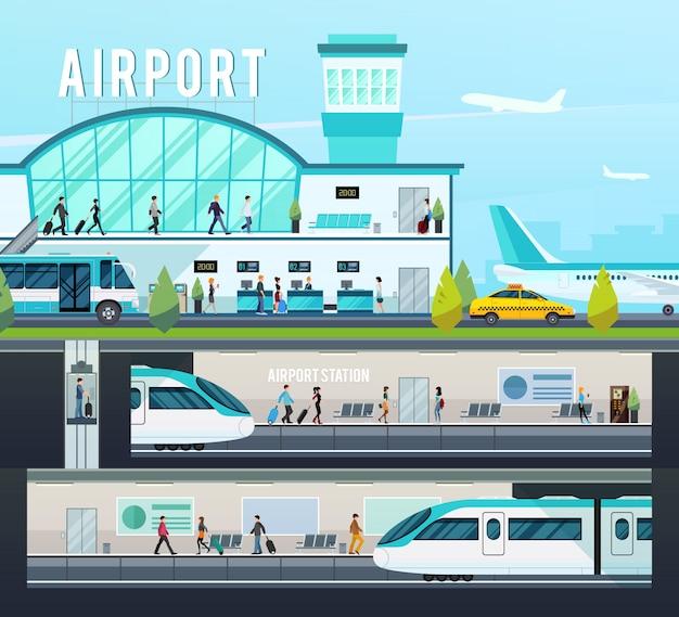 Composiciones de terminales de transporte