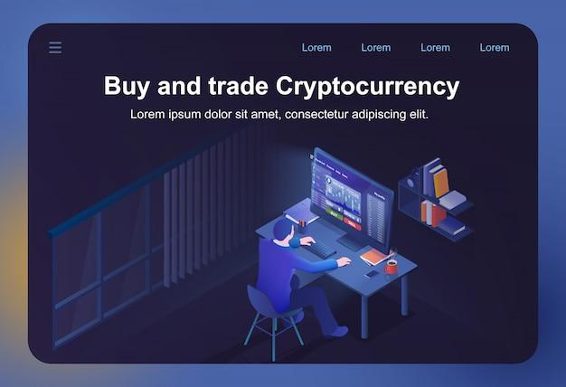 Compra y comercio de criptomoneda