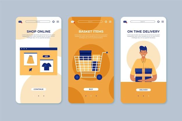 Compra concepto de interfaz en línea