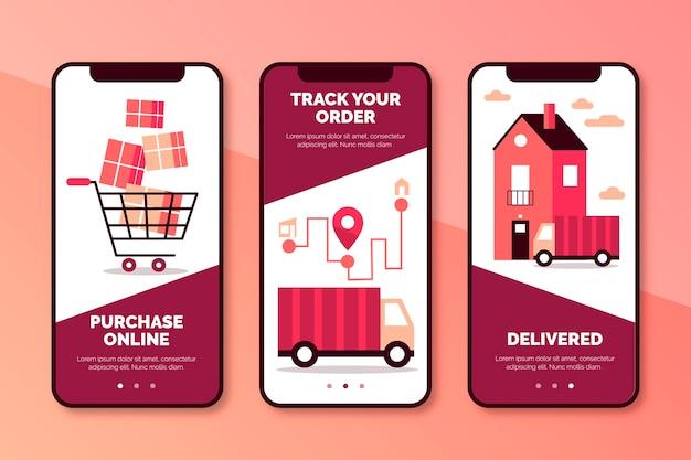 Compra en línea la colección de pantallas de aplicaciones de incorporación