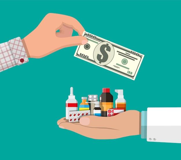 Compra y venta de drogas.