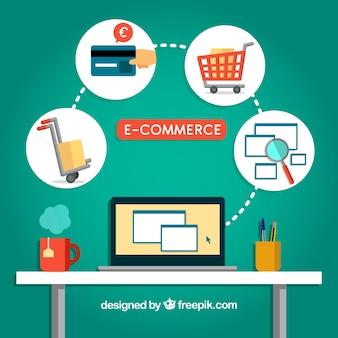 Comprando online en la oficina
