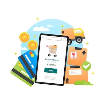 Comprar aplicación de concepto en línea