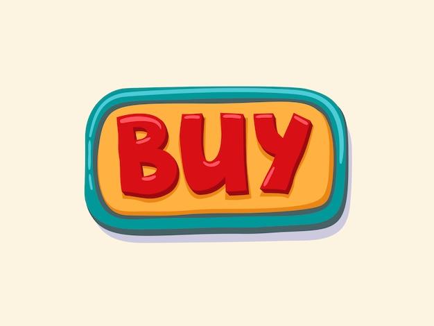 Comprar. botón web dibujado a mano.