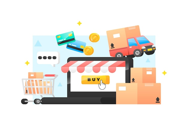 Comprar interfaz de concepto en línea