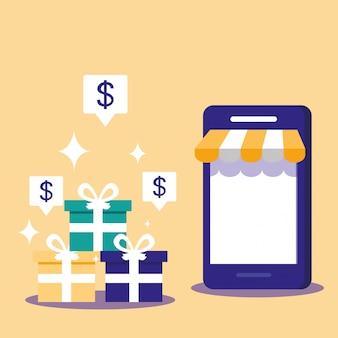 Comprar en línea con un teléfono inteligente