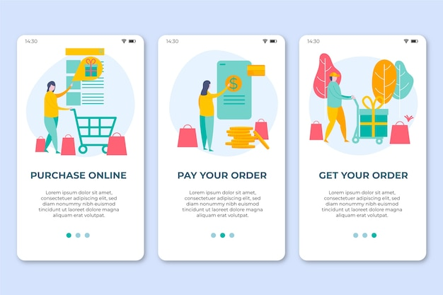 Comprar pantallas de aplicaciones de incorporación en línea