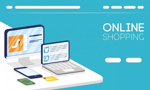 Comprar tecnología en línea en dispositivos electrónicos