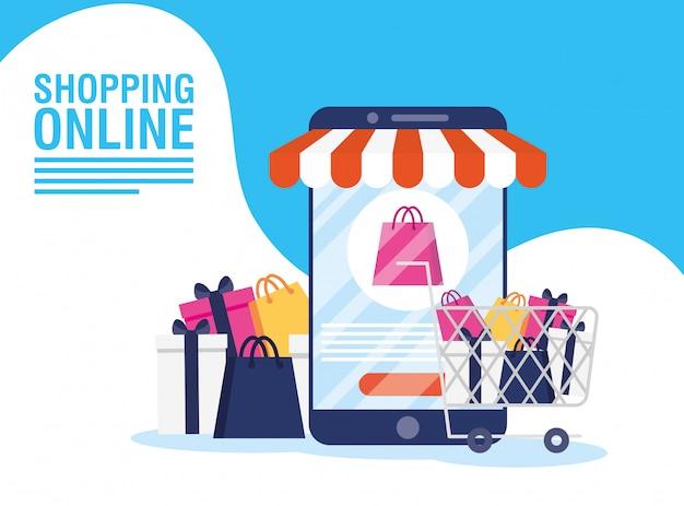 Comprar tecnología en línea en teléfonos inteligentes
