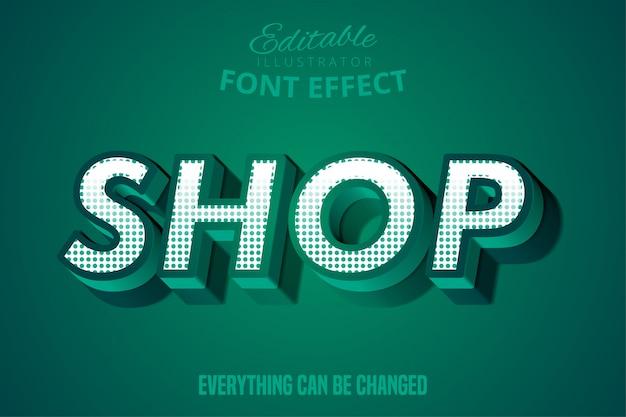 Comprar texto, efecto de fuente editable