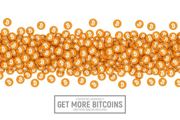 Comprar vender bitcon conceptual ilustración vectorial