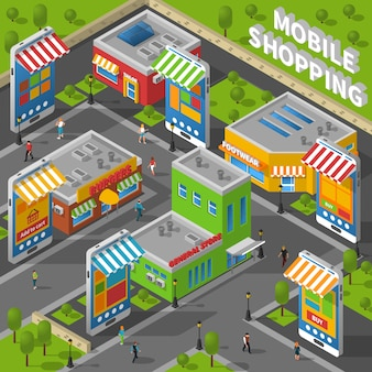 Compras isométricas móviles