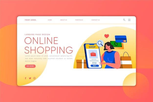 Compras en línea: página de destino