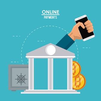 Compras en línea y pago desde teléfono inteligente
