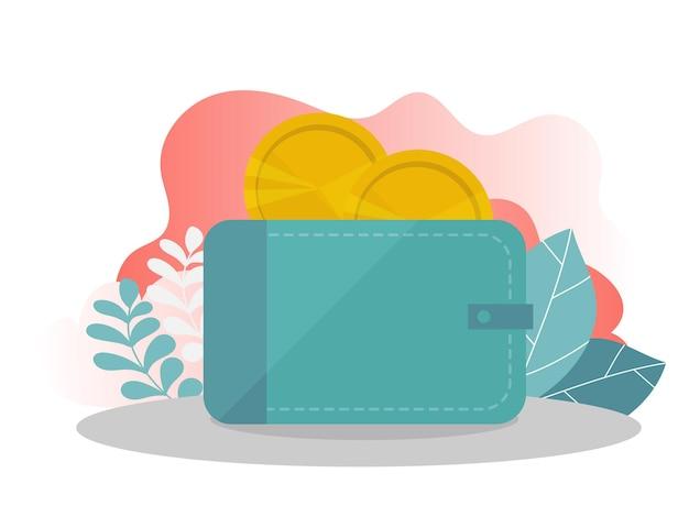 Las compras en línea. plantilla de página de destino. concepto plano moderno para diseño web. la ilustración vectorial se puede utilizar para la página de destino, plantilla, web, aplicación móvil, cartel, banner, volante en colores modernos