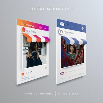 Compras en línea en publicaciones de redes sociales