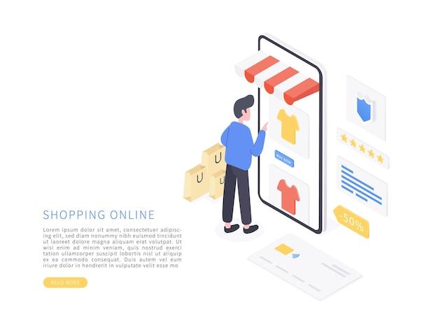 Compras en línea en el sitio web o la aplicación móvil