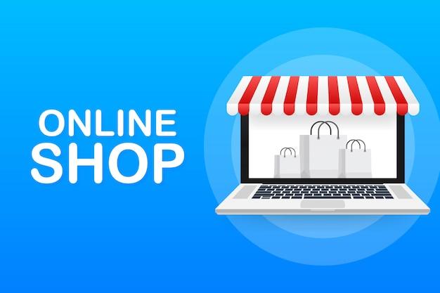 Compras en línea en el sitio web.