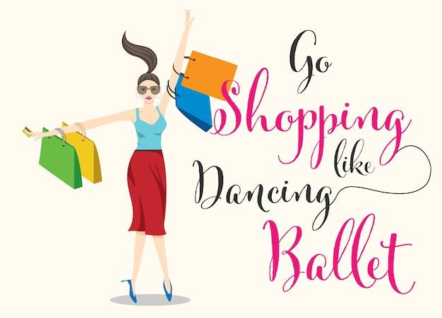 Compras mujer bailando personaje de dibujos animados de ballet